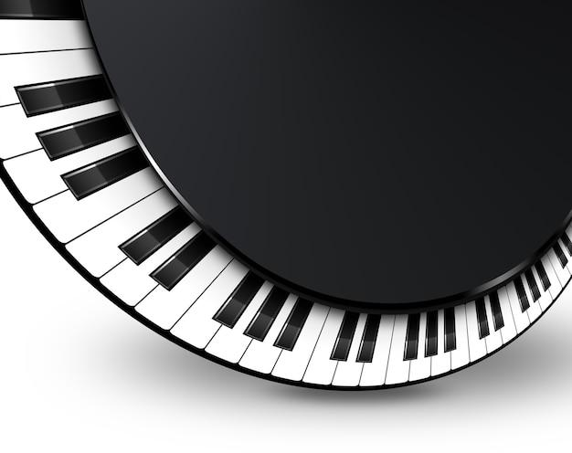 Musikalische untermalung mit klaviertasten