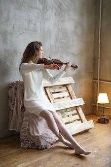 Musiker spielt geige