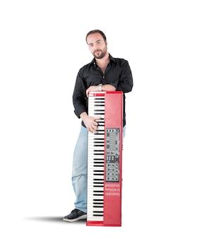 Musiker und klavier