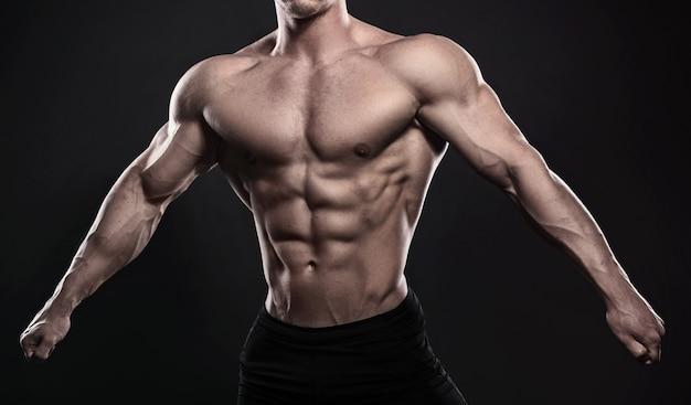 Muskulöser männlicher torso