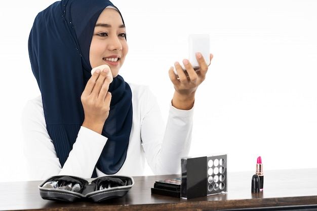 Muslim mit make-up