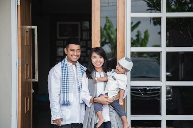 Muslimische familie eid mubarak