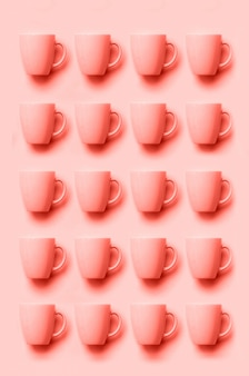 Muster aus rosa tassen