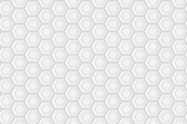 Muster aus sechsecken und kreisen basierend auf einem sechseckigen gitter oder einer wabe