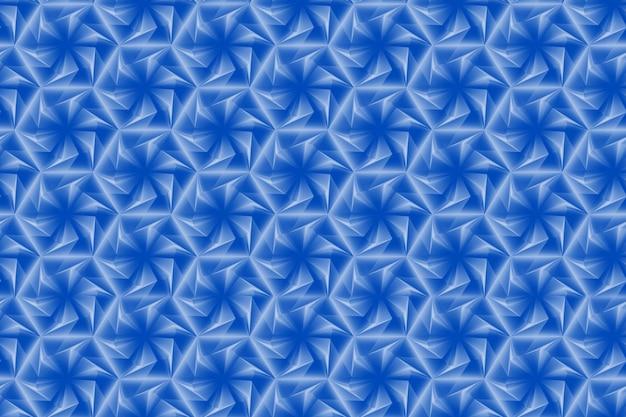 Muster aus sechsecken und kreisen basierend auf einem sechseckigen gitter