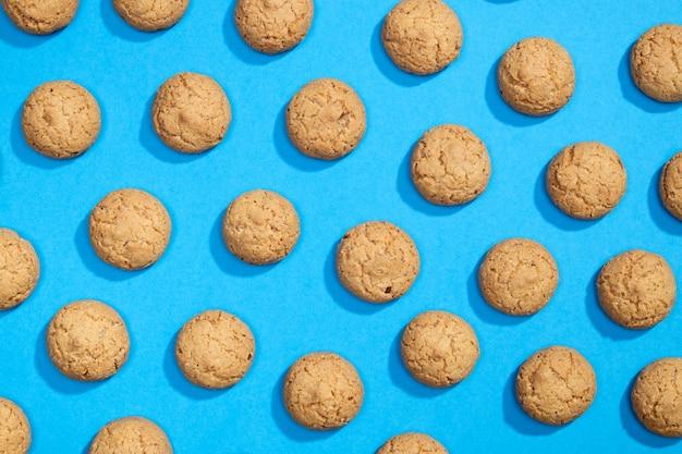 Muster aus süßen keksen