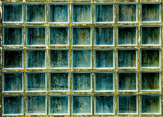 Muster der glasblockwandbeschaffenheit und -hintergrundes