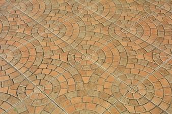 Muster der Pflasterung der Fliesen, keramischer Ziegelsteinbodenhintergrund