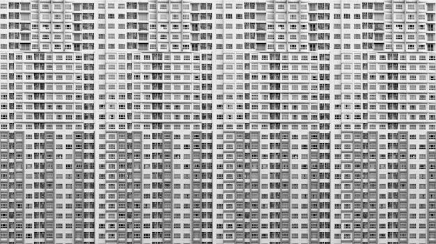 Muster des modernen fensters und des balkons