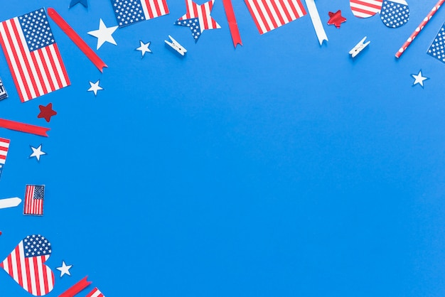 Muster in den farben der usa-flagge