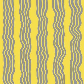 Muster mit grauen vertikalen streifen auf gelbem grund