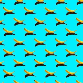 Muster mit reifer gelber banane isoliert
