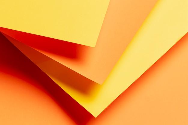 Muster mit schatten der orange nahaufnahme