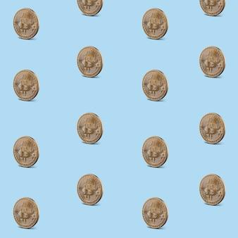 Muster nahtlos von goldmünzen von bitcoins