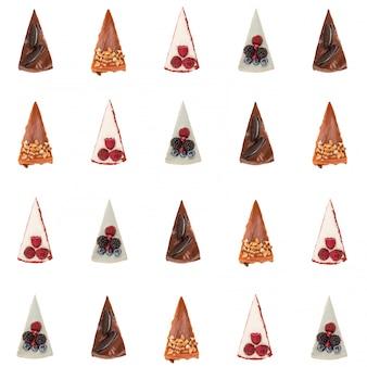 Muster verschiedener kuchen