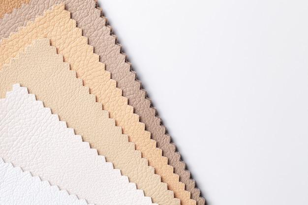 Muster von leder textil weiß und beige farben