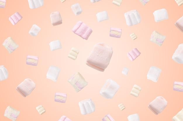 Muster von marshmallows