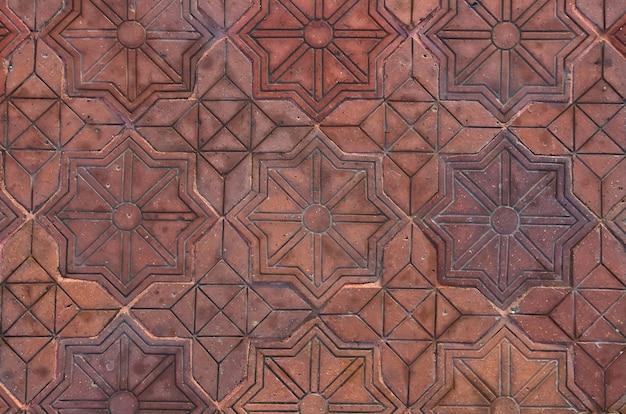 Muster von steinwürfeln, weg, hintergrund