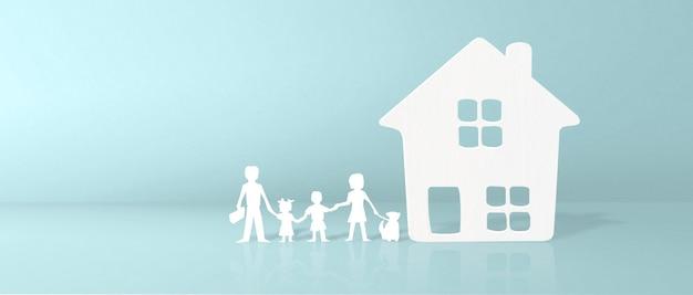 Musterhaus. konzept der vermietung, des kaufs und des verkaufs von immobilien. maklerdienstleistungen, gebäudereparatur und -wartung
