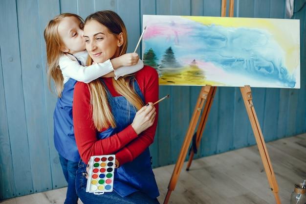 Mutter und tochter zeichnen