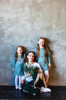Mutter und töchter, rote haare, sommersprossen, schönheit, kommunikation, familie
