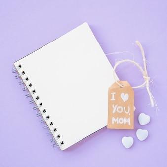 Muttertag rahmen notebook