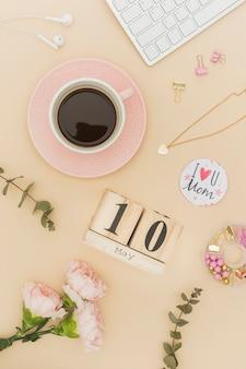 Muttertagskonzept mit kaffee