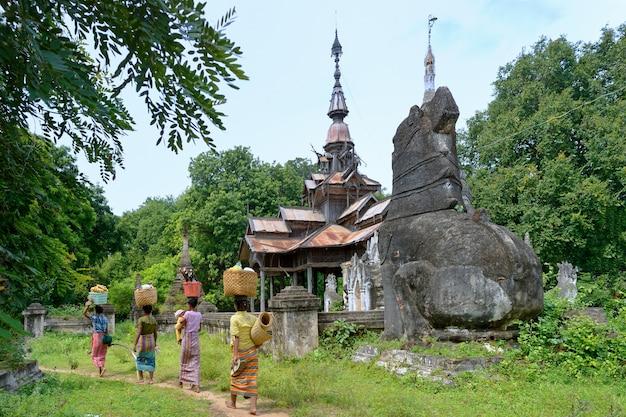 Myanmar frauenkopf