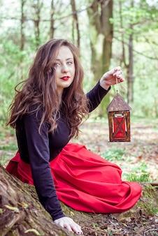 Mystische hexenfrau