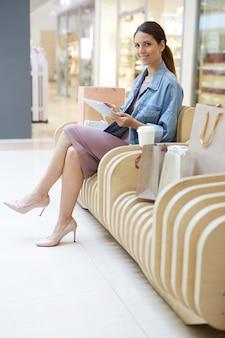 Nach dem einkaufen entspannen