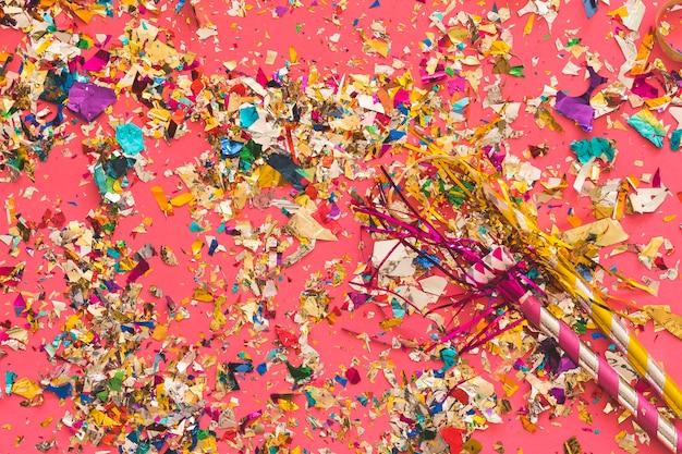 Nach der party chaos von konfetti