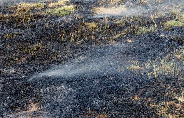 Nach der verwendung von feuerschutz für das stoppen von lauffeuer