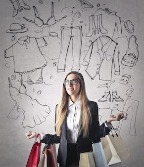 Nachdenken über einkaufen
