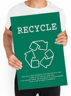 Nachhaltige umweltökologie nature recycle planet