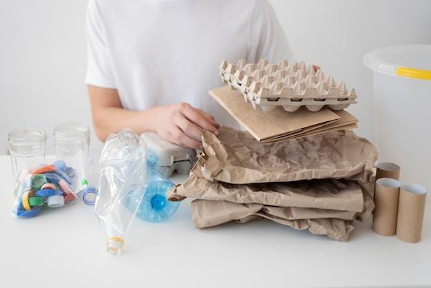 Nachhaltiger lebensstil ohne abfall