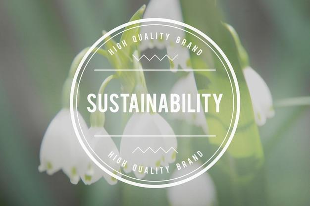 Nachhaltigkeit umweltschutz ressourcen ökologie konzept