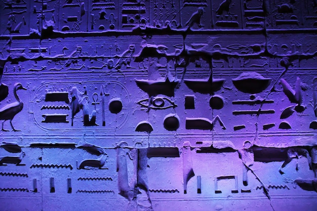 Nacht in den alten tempeln von luxor, ägypten