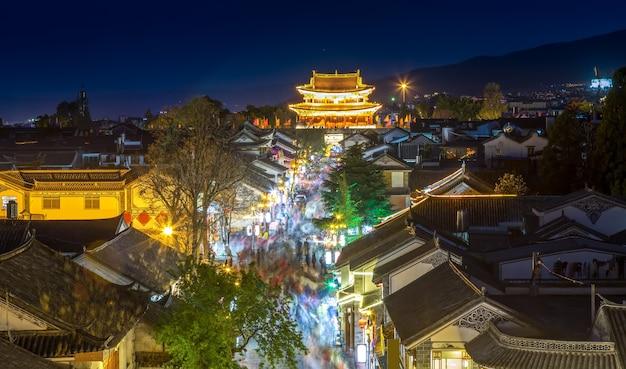 Nachtansicht des alten stadtblocks von dali