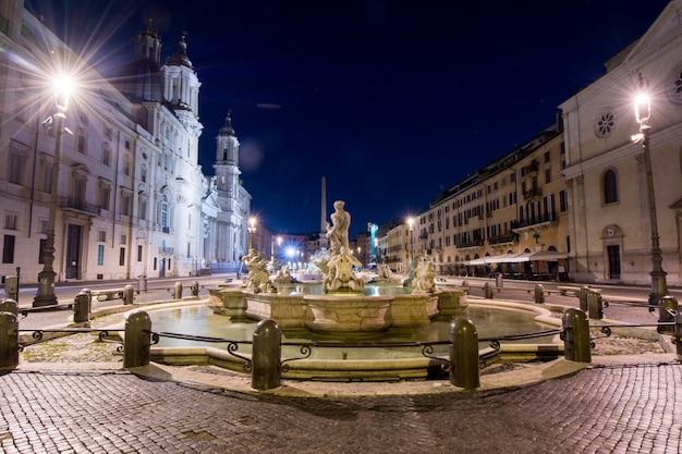 Nachtansicht, piazza navona, rom. italien