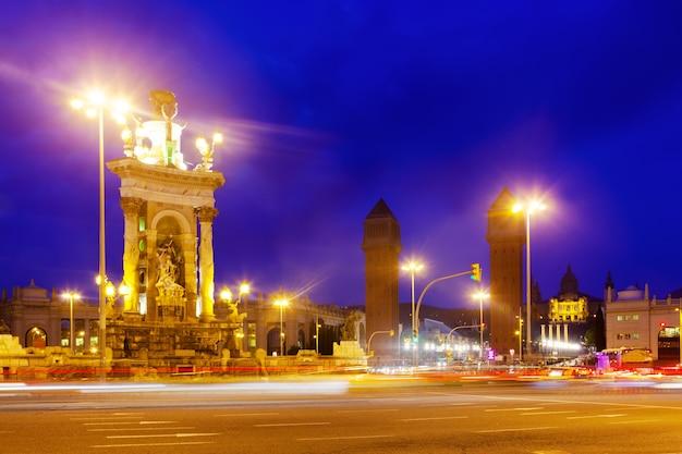 Nachtansicht von plaza de espana