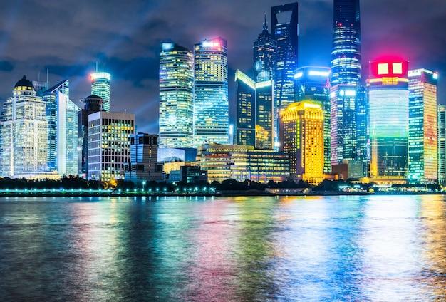 Nachtansicht von shanghai, pudong, china