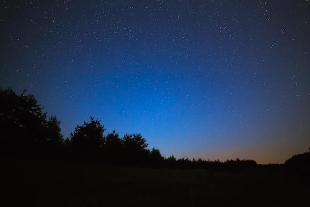 Nachthimmel mit hellen sternen