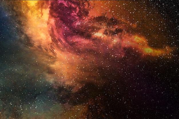 Nachthimmel mit sternen und nebelfleck
