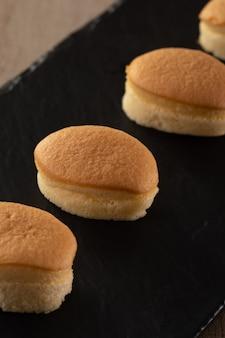 Nachtisch der japanischen art des käsekuchens süß
