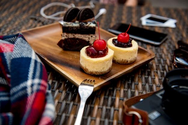 Nachtisch-süßer kuchen geschmackvolle bäckerei weich