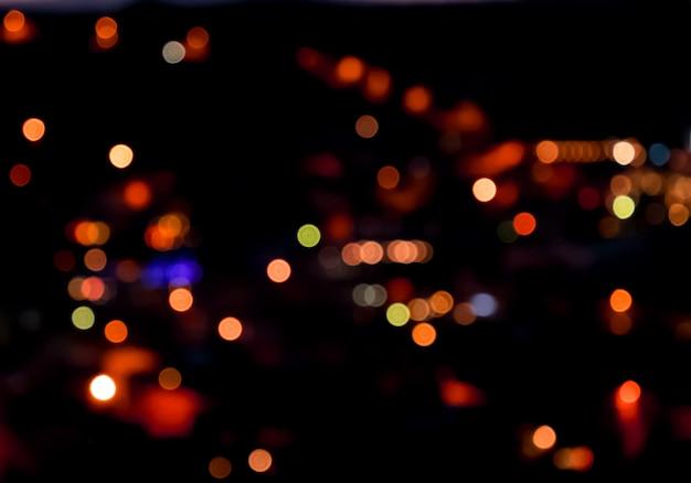 Nachtlicht abstrakter hintergrund mit bokeh
