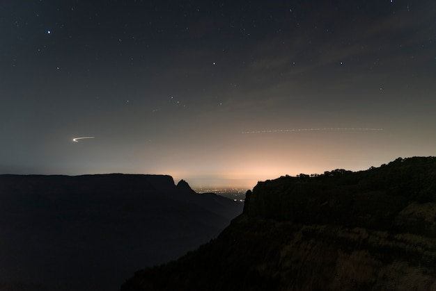 Nachtszene in die wildnis