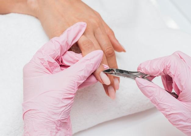 Nagelhygiene und pflege nagelschönheitskonzept