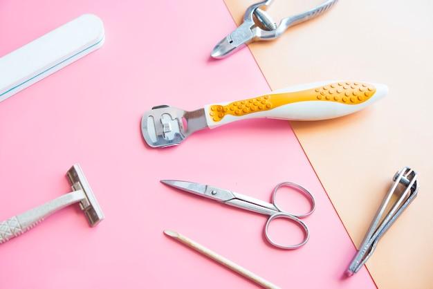 Nagelpflege draufsicht