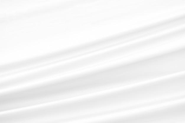 Nahaufnahme 3d elegant zerknittert von weißem seidenstoff stoff hintergrund und textur.
